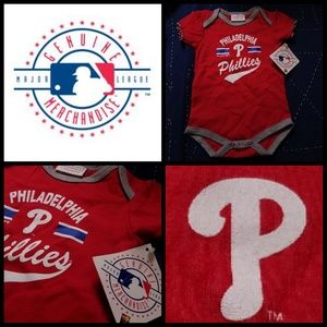 NWT! Phillies size Genuine MLB onesie sz 18mos